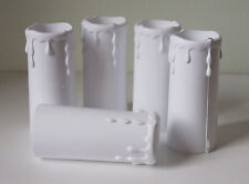 5 x Plastic Candle Drip Lamp holder Cover in White 32mm x 80mm Approx