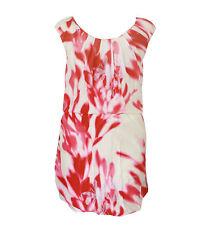 Doo.Ri $1,295 pink & cream silk abstract floral print boatneck mini dress 0 NEW
