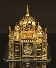 AUTHENTIC SWAROVSKI CRYSTAL ELEMENTS MOSQUE DISPLAY PAPERWEIGHT 24K GOLD PLATED