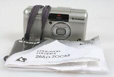 FUJIFILM ENDEAVOR 265IX ZOOM POINT AND SHOOT FILM CAMERA W/ MANUAL + WRIST STRAP