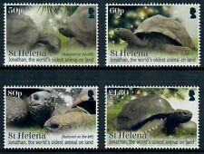 St. Helena 2019 Jonathan the Tortoise on Set of Four Colorful Stamps MNH