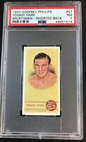 1937 Godfrey Phillips Sportsmen Spot the Winner Tommy Farr Inverted Back PSA 7