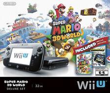 Nintendo Wii U Console Black 32Gb Bundle Super Mario 3D World + NintendoLand