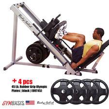 NEW 2017 Body Solid GLPH1100 Leg Press / Hack Squat + 180 lb. weight plates