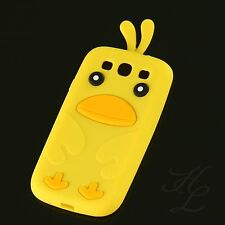 Samsung Galaxy S3 NEO i9300 Silikon Handy Case Schutz Hülle Etui Chicken Gelb