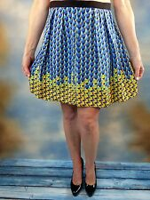 NEW $278 MARC BY MARC JACOBS Blue Paradox Flared Silk Skirt Sz 2 XS