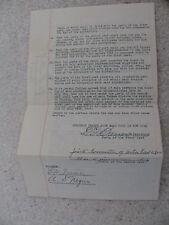 EDWARD G BARROW SIGNED CONTRACT 07/09/1925 AUTOGRAPH HOF YANKEES EXECUTIVE AUTO