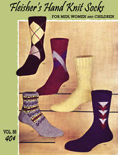 Fleisher's #86 c.1950 Hand Knitting Socks & Stockings for Men Women and Children
