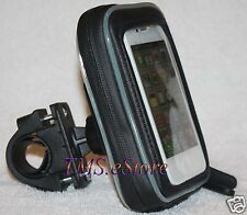 Bicycle/Motorcycle Handlebar Mount with Dust Resistant Case for Cell Smart Phone