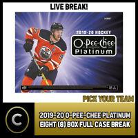 2019-20 O-PEE-CHEE PLATINUM 8 BOX (FULL CASE) BREAK #H724 - PICK YOUR TEAM