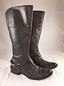 Matisse 'Knight' Black Leather Women's Size 7M Zip Up Elastic Side Riding Boots
