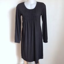 ELLIS & DEWEY black jersey dress Easy to wear stretchy Size L Ruched front