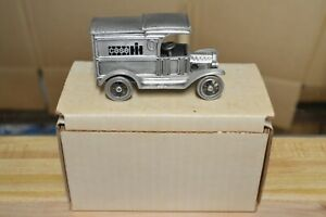 1/43 Case IH 1913 Ford Model T Delivery Van 1st in a series  Pewter  With Box
