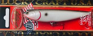 """LUCKY CRAFT SAMMY 100 - 4"""" TOPWATER 1/2 OZ WALK the DOG -BLOODY TENNESSEE SHAD"""