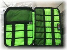 1 BMB Buemcase Travel Elektronik Organizer doppel Fächer* Bag Grau Neongrün* OVP