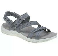 Earth Origins Size 9 Suede Sport Sandals Westfield Wendy Walking Hiking Gray