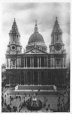 Vintage Real Photo London Postcard, St. Paul's Cathedral GM2