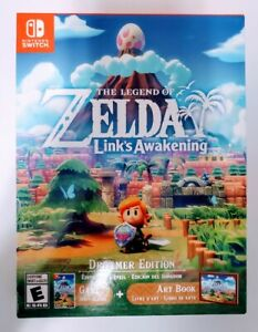 The Legend of Zelda Link's Awakening Dreamer Edition Game & Art Book New Sealed
