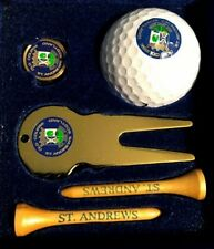 """OLD COURSE"" ST ANDREWS SCOTLAND GOLF SET w/BALL~2 TEES~MARKET~DIVOT REPAIR TOOL"