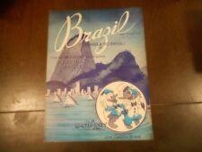 RARE 1942 Walt Disney Brazil Saludos Amigos Sheet Music combined shipping