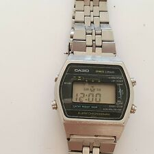 Casio Marlin W-250 108 Japan Vintage 1980 's All Stainless Steel Lithium Rare