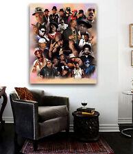Hip Hop Legends Old School Rap Stars Collage Huge piece of art Run Dmc, Biggie