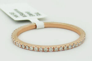 GENUINE 0.54 Cts WHITE SAPPHIRES INFINITI RING 14k ROSE GOLD ** New With Tag **