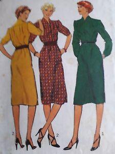 VINTAGE 1979 DRESSMAKING DRESS - STYLE 2833 SIZE 12 BUST 87cm