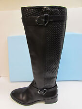 Antonio Melani Size 7 M Black Leather Knee High Boots New Womens Shoes