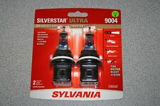 Sylvania Silverstar ULTRA  9004 Pair Set High Performance Headlight 2 Bulbs NEW