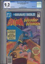 Brave and the Bold #158 CGC 9.2 1980 DC Comics Wonder Woman App, Jim Aparo Art