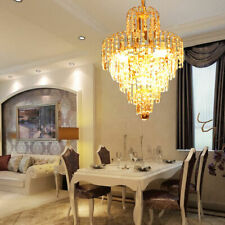 Kristall Deckenleuchte Kronleuchter Deckenlampe Lüster Pendelleuchte Gold & klar