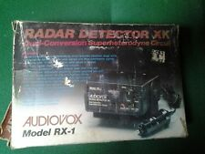 Vintage Audiovox Rx-1 Radar Detector K Band X Band Audio