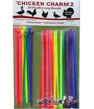 20 Chicken Charm ® 2 Poultry Leg Bands ~ Chickens, Geese, Duck Size 7-14