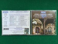 1 CD Musica , Andrea e Giovanni GABRIELI - ORGANI BASILICA S.PETRONIO BOLOGNA