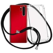 Handykette Hülle Band Neck Case Neck Lace Cover für OnePlus 7 Pro - schwarz