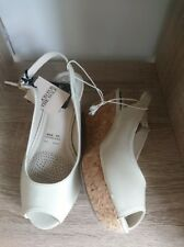 Good for the SOLE:Beige/Nude Wedges, Memory Foam, Open toe Sandals, SZ 3, 36 NEW