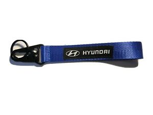 For Hyundai Blue Keychain Metal key Ring Hook Strap Lanyard Nylon Universal
