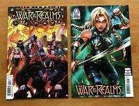WAR OF REALMS #4  Arthur Adams Main Cover + Max Lim Variant Marvel Comics VF/NM