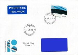 Estonia 2018 (Reprint) - Estonian Flag - Eur 2.00 (fdc)