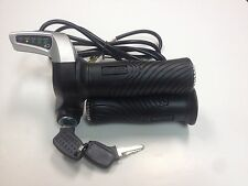 eBike / Electric Scooter Throttle w/ Key Switch & Battery Level 36V - US SELLER
