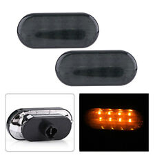 Dynamic L+R Smoked LED Side Marker Lights Lens Fender For VW MK4 Jette Beetle