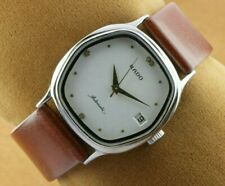 VINTAGE RADO WHITE AUTOMATIC SWISS MEN'S WORKING WRIST WATCH 32MM