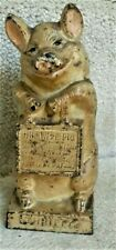 """VTG """"Thrifty The Wise Pig"""" Cast Iron Still Bank 6 3/4"""