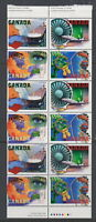 CANADA #1595-1598a 45¢ High Technology Industries Booklet Pane of 12 MNH