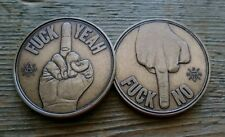 Decision Maker Coin - F*ck Yeah/F*ck No Middle Finger Coin - Bronze - NEW