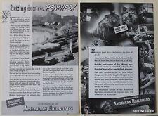 Association of American Railroads  1937 Vintage Magazine Print Ads 7 x 10