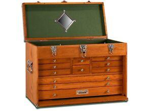 GI-T24 11 Drawer Oak/Veneer Chest by Gerstner International Tool Hobby FREE SHIP