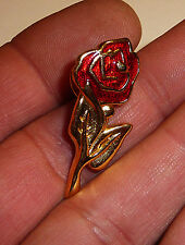 BROCHE / PIN'S / ROSE EMAILLEE