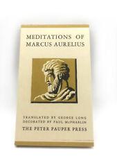 1957 Meditations of Marcus Aurelius By George Long Peter Pauper Press Book HC